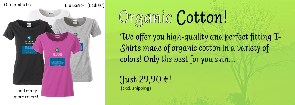 Organic Cotton! We offer you high-quality and perfect fitting T-Shirts (here: Ladies') made of organic cotton in a variety of colors! Only the best for your skin...